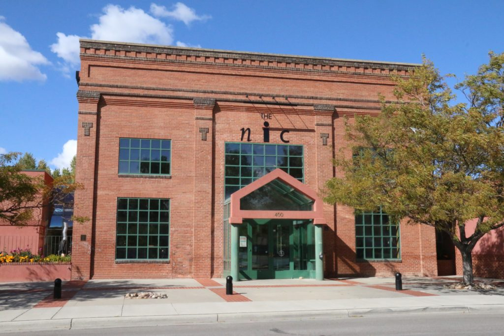 The front entrance of The Nicolyasen Art Museum in Casper Wyoming